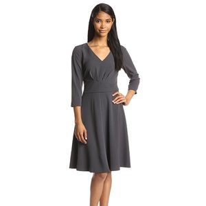 Anne Klein charcoal gray tailored swing dress NWT